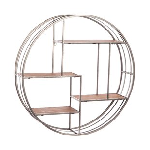 Gracie Oaks Noam Round Metal Wall Shelf