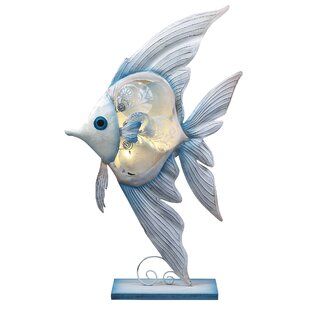 Highland Dunes Lucius Tropical Banner Fish Figurine 22