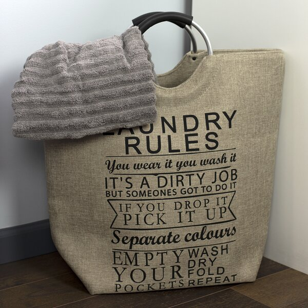 Canvas Shopping Tote Bag Laundry Room Wash Dry Fold Repeat Laundry Beach Bags for Women