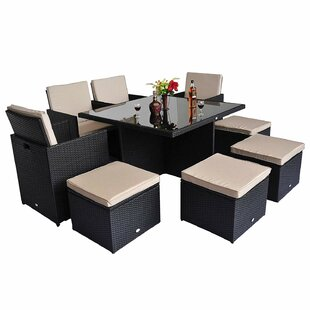 8 Seater Dining Set With Cushions By Sol 72 Outdoor