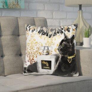 Core Cat Perfume Bottle Throw Pillow