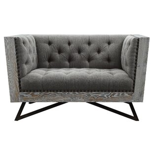 Everly Quinn Klahn Chesterfield Chair