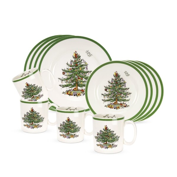 Spode Christmas Tree 12 Piece Dinnerware Set, Service for 4 ...