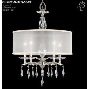 American Brass & Crystal Kaya 5-Light Cha..