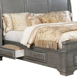 Torgerson Wooden Queen 4 Drawers Sleigh Bed