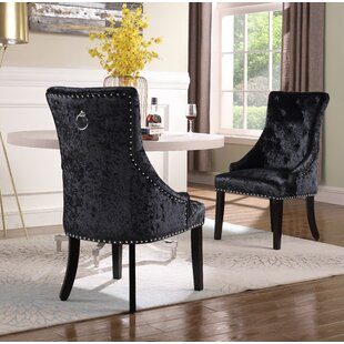 Sizemore Upholstered Dining Chair (Set of 2) Everly Quinn