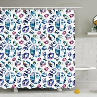Shining Diamonds Shower Curtain Set