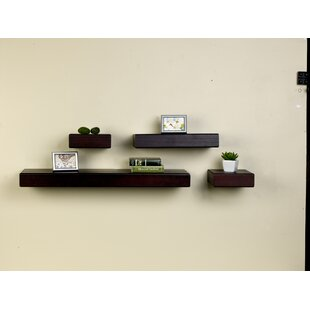 Kellar Chunky Ledge 4 Piece Wall Shelf Set