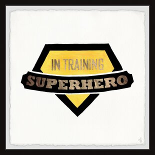 Coury Superhero in Training Badge Framed Art by Zoomie Kids