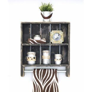 Best Double Towel Rack Wall Shelf by August Grove