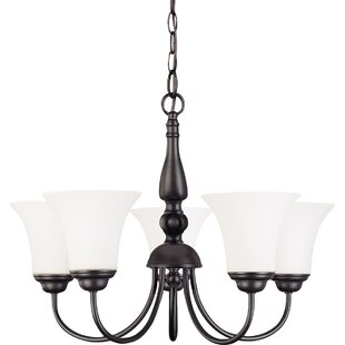 Keown 5-Light Shaded Chandelier by Charlton Home