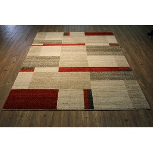 Francisca Beige Red Area Rug
