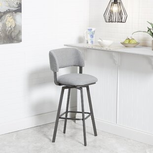 Alydar Adjustable Height Swivel Bar Stool