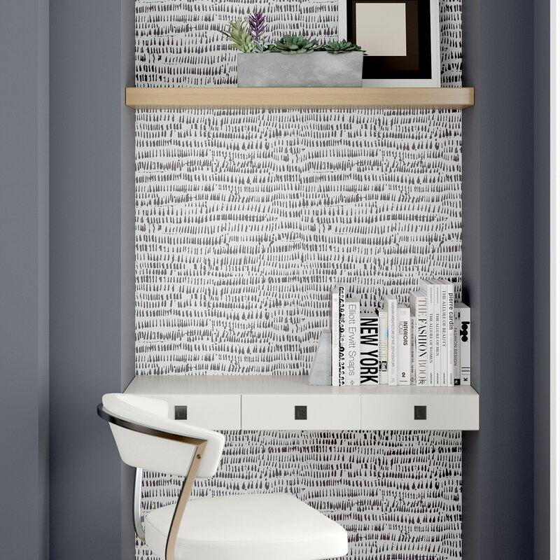 "Orren Ellis Tariq 18' L x 20.5"" W Texture Peel and Stick Wallpaper Roll & Reviews | Wayfair"