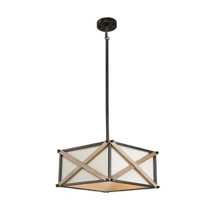 Corcoran 3-Light Lantern Chandelier by Wi..