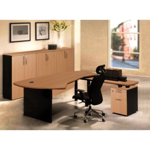Executive Management 5 Piece L-Shaped Desk Office Suite by OfisELITE Herry Up