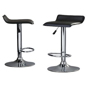 Gould Adjustable Height Bar Stool (Set of 2) by Wade Logan