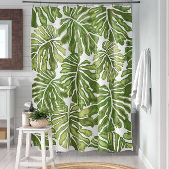 Deny Designs Wagner Campelo Ikat Leaves Shower Curtain 69 x 72