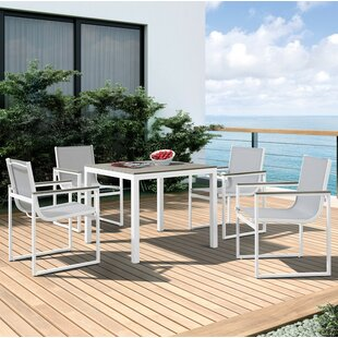 Latitude Run Hornback Outdoor 5 Piece Dining Set