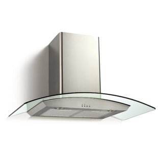 36 Ancona Glass Canopy Series 450 CFM Convertible Wall Mount Range Hood