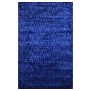 Safia Chalkboard Hand-Woven Navy Blue Area Rug