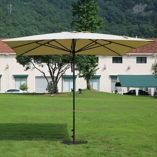 Alcott Hill Pandora Patio 10' x 10' Rectangular Market Umbrella