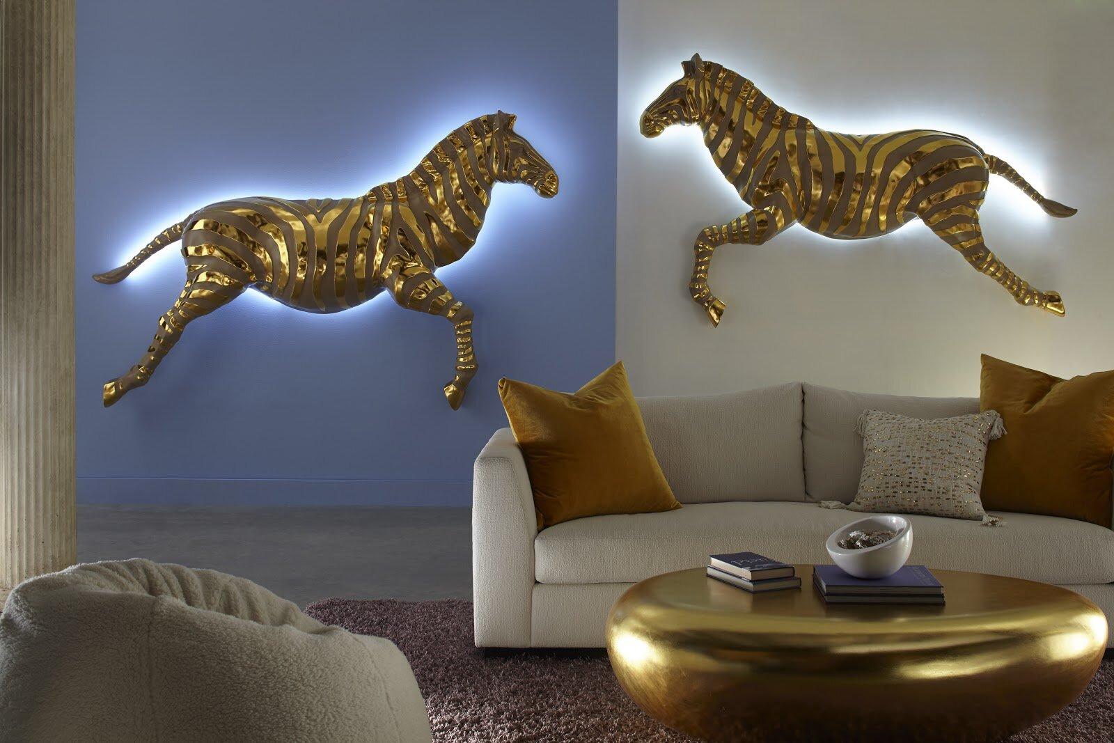 Illuminated Wall Decorations - Zebra Illuminated LED Wall Décor