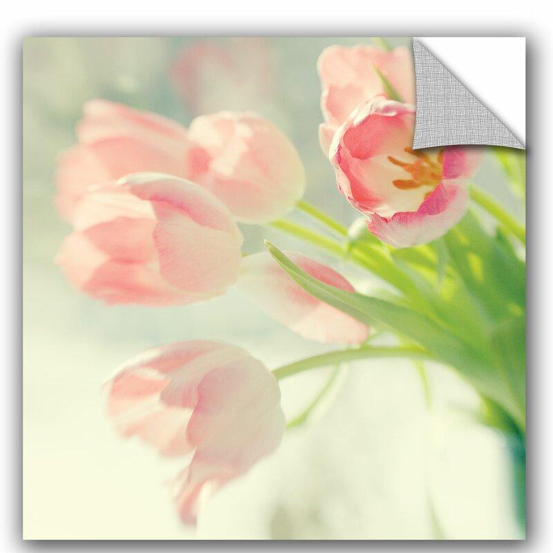 Artwall Judy Stalus Pink Tulips Removable Wall Decal Wayfair