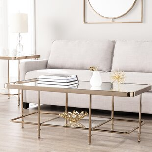 Kimberlin Mirrored 2 Piece Coffee Table Set Mercer41