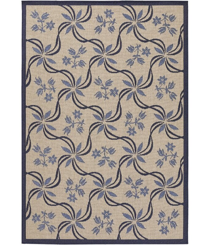 August Grove Leibowitz Hand-Hooked Purple/Tan Area Rug, Size: Rectangle 79 x 112