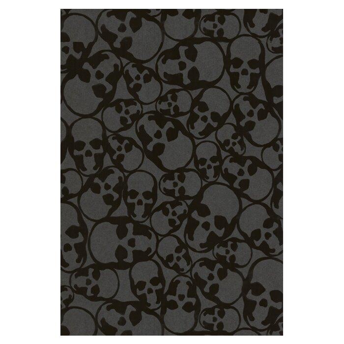 Tillo Skulls 20 5 Abstract Flocked Wallpaper Roll