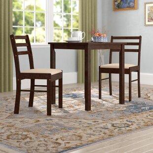 Winston Porter Clinger Pilaster Designs 3 Piece Dining Set