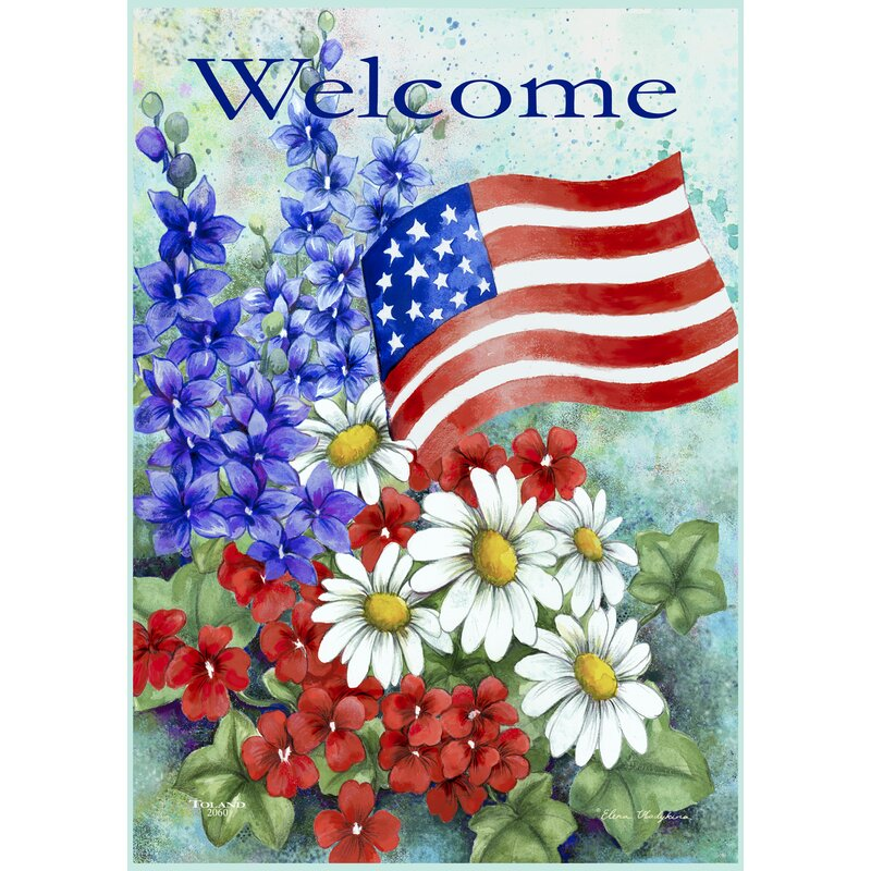 Toland Home Garden Patriotic Welcome 12 5 X 18 Inch Garden Flag Reviews Wayfair