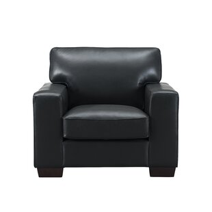 Van Nest Leather Club Chair by Latitude Run