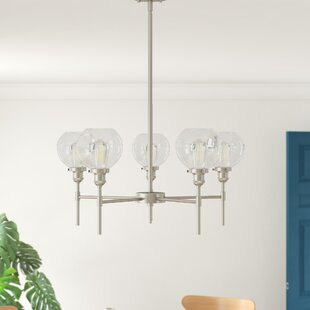 Dunneback 5-Light Shaded Chandelier by Mercury Row