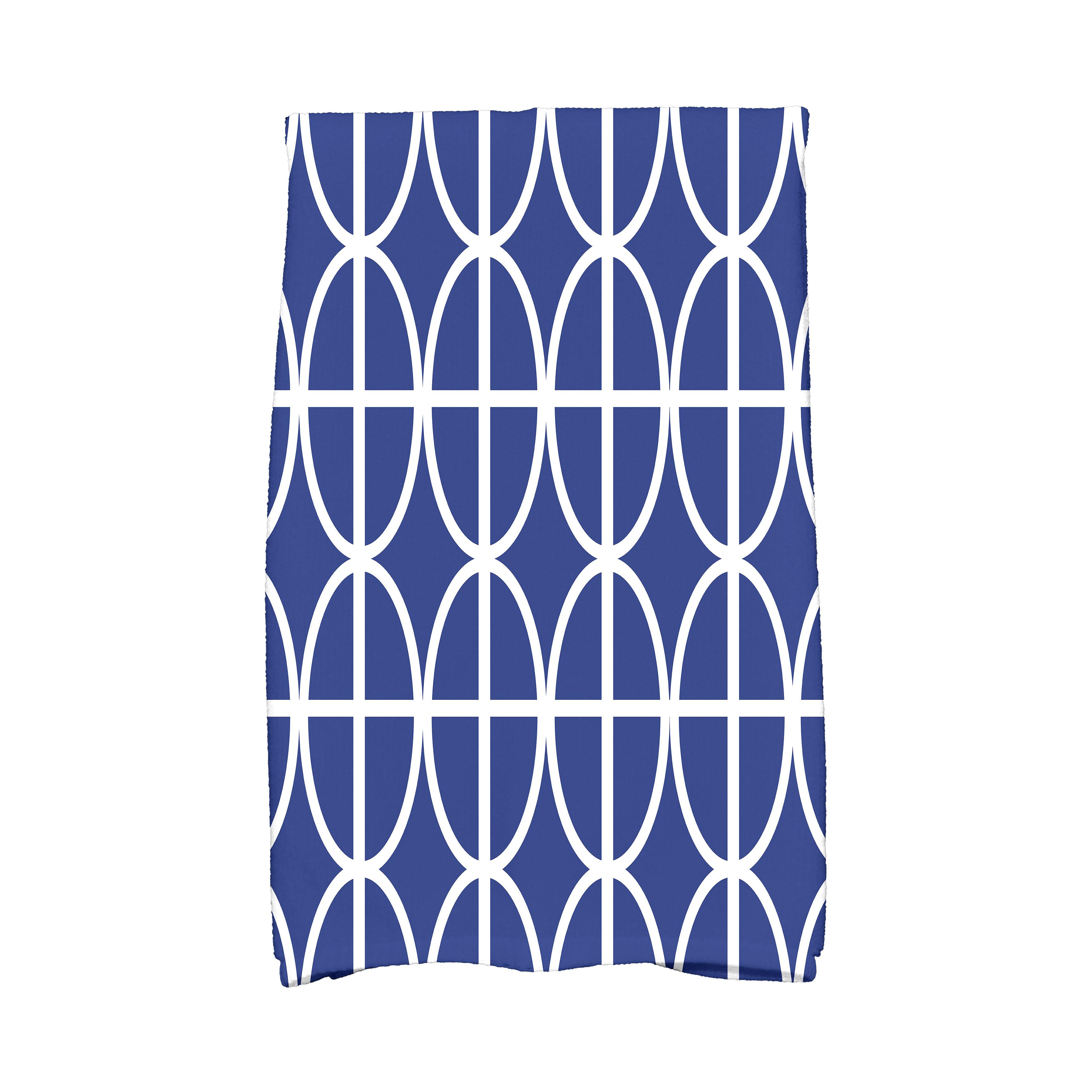 Ivy Bronx Ovals And Stripes Geometric Print Tea Towel Wayfair