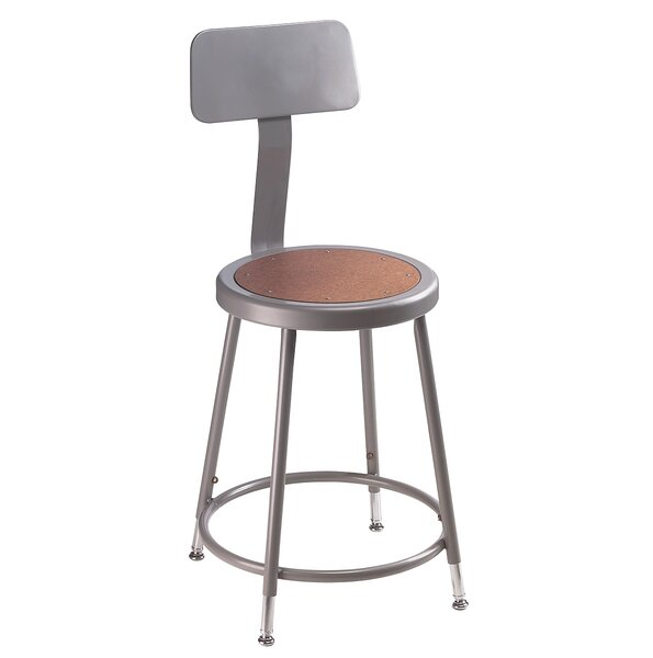 National Public Seating Height Adjustable Stool With Backrest U0026 Reviews |  Wayfair