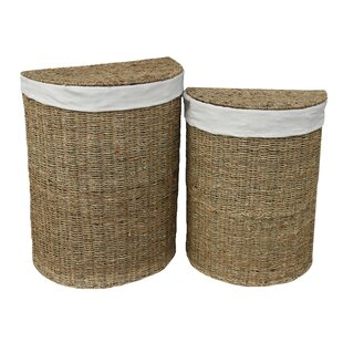 Semi-Circle Wicker 2 Piece Laundry Set By August Grove