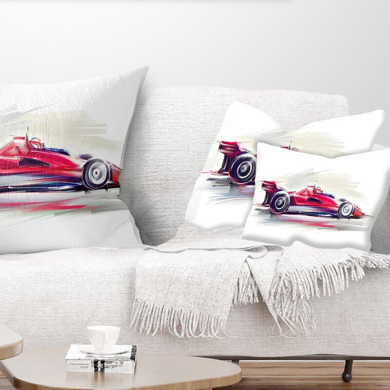 East Urban Home Formula One Car Lumbar Pillow Wayfair