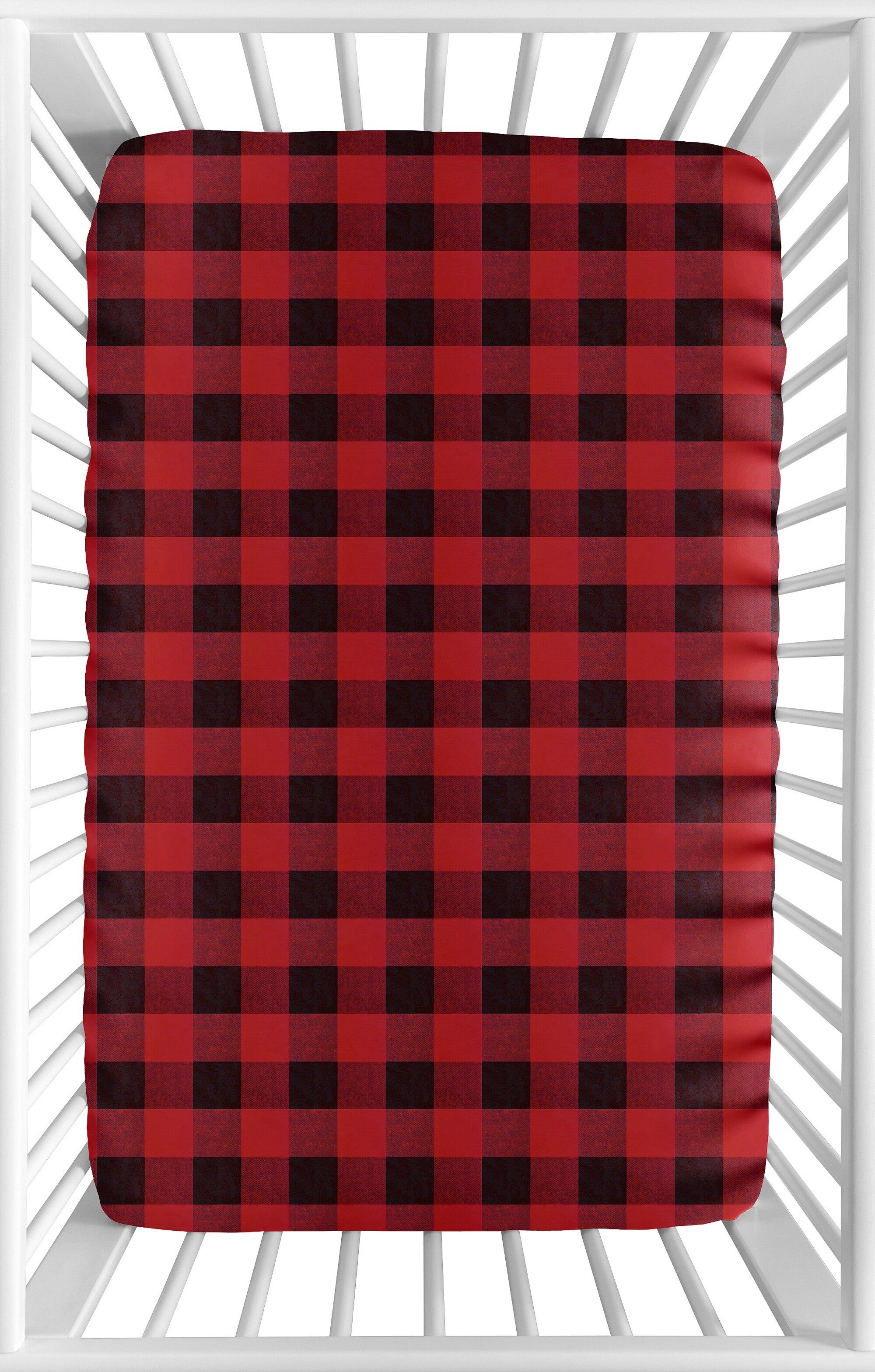 Sweet Jojo Designs Lumberjack Fitted Crib Sheet Wayfair