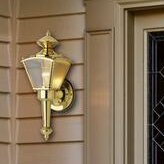 Charlton Home Mock Exterior 1-Light Outdoor Sconce (Set of 2)