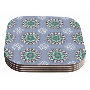 Nika Martinez 'Princess' Arabesque Coaster (Set of 4) ByEast Urban Home