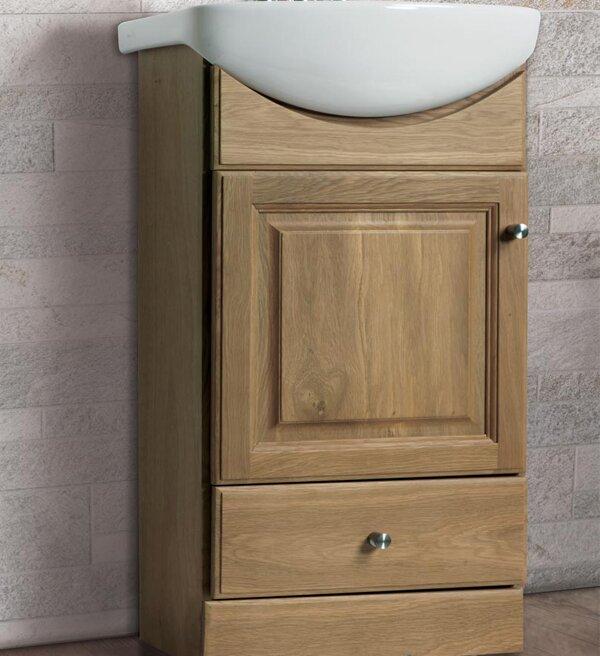 """16 Bathroom Vanity fine fixtures petite 16"""" single bathroom vanity set & reviews"""