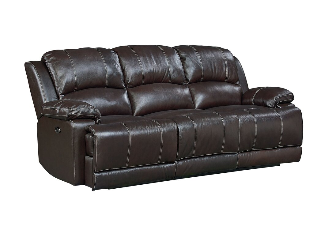 Charmant Garlock Leather Reclining Sofa