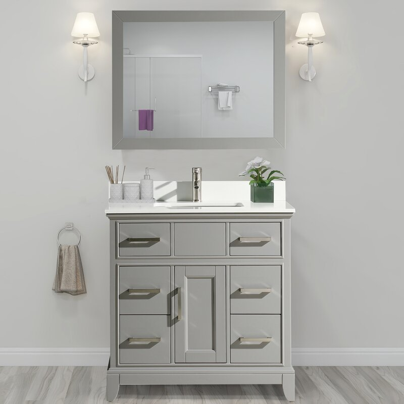 Andover Mills Valor 36 Single Bathroom Vanity Set With Mirror Reviews Wayfair