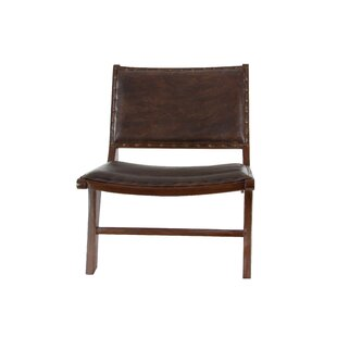 Cole & Grey Genuine Leather Lounge Chair