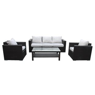 Skyview 4 Piece Sofa Set with Cushions