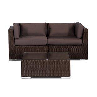 Kardiel Aloha Makena 3 Piece Conversation Set with Cushions