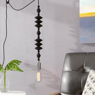 Wrought Studio Alshain Transitional Beaded Swag 1-Light Bulb Pendant
