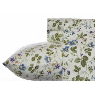 Laura Ashley Home Spring Bloom Flannel 4 Piece Sheet Set